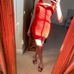 Lush Red Mini Dress